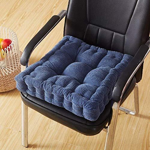 Vierkante zitkussens, zitkussen, zitkussen, zitkussen, zitkussen voor bureaustoel, voor volwassenen, extra dik, voor kinderstoel, roodwijnkussen (kleur: oranje, maat: 20 x 20 inch)