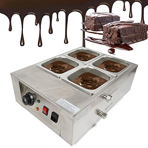 SHIOUCY 4 Schmelztiegel Schmelzmaschine Schmelzgerät Fondue Chocolate Ceramic Pan Schmelzgerät Fondue Chocolate Melting Machine Chocolate Schokoladen