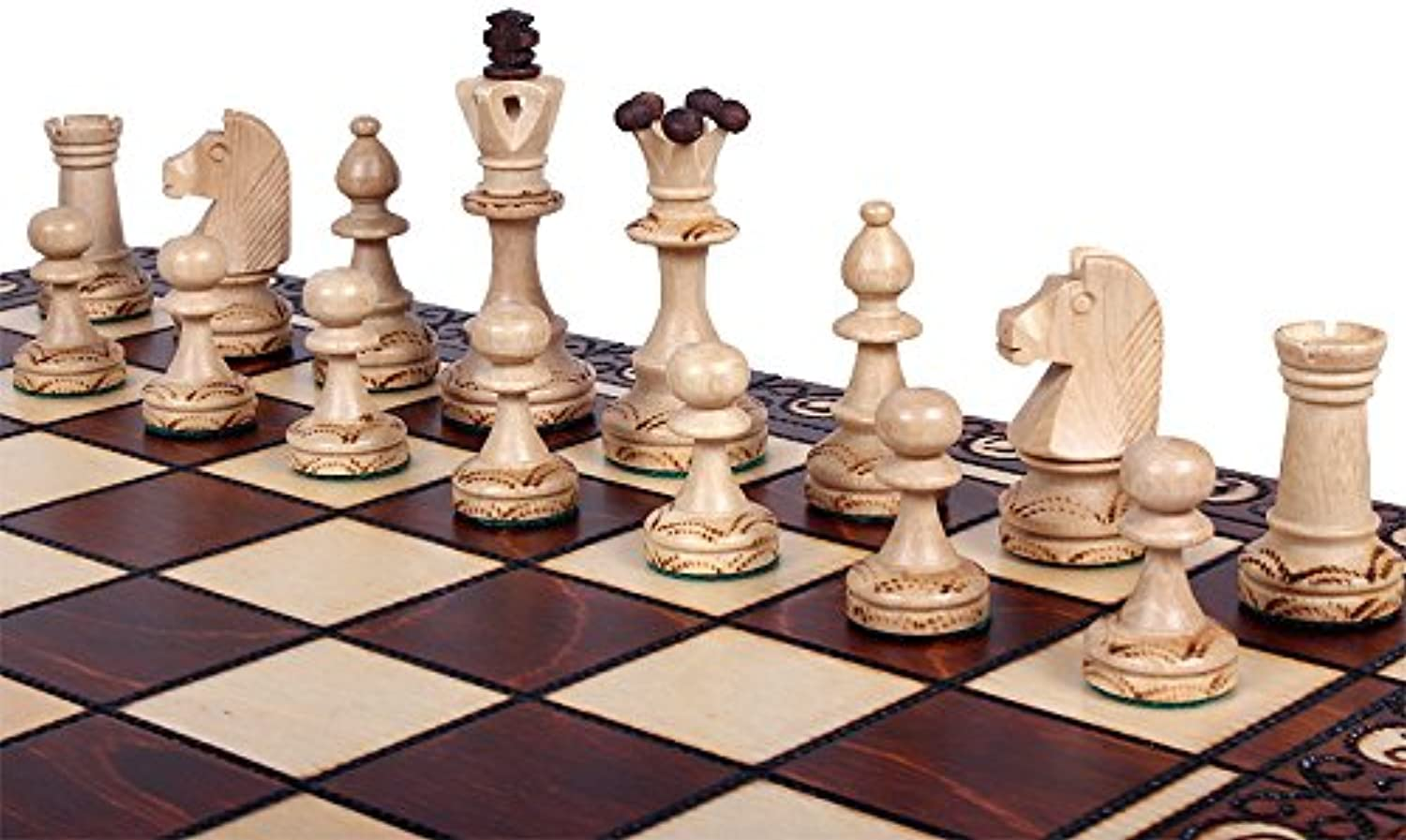 Chess Set  The Zaria  Elegant Hand Crafted Wood Chess Pieces, Chess Board & Storage