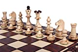 The Zaria Chess Set, Handcrafted, Elegant, Wooden Chess Pieces, Chess Board That Folds for Chess Piece Storage