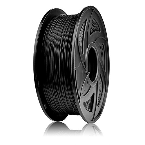 S SIENOC 1 paquete de filamento impresora 3D Fibra de Carbono 1.75mm Impresora - Con 1 kg de carrete (Fibra de Carbono Negro)