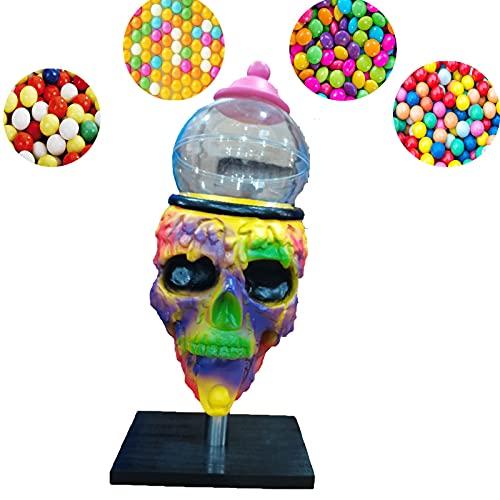 Dispensador De Caramelos De MáQuina De Calavera De Chicle De Halloween,Mini MáQuina De Chicle Skull Cool,Dispensador De Caramelos De Chicle 3d,Decoraciones De Halloween De Calavera De Caramelo (1)
