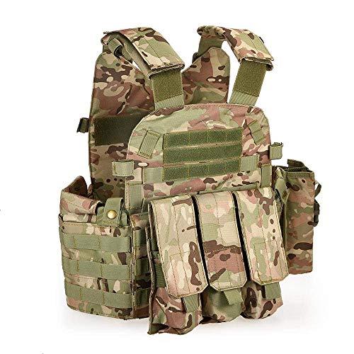 Lixada Taktische Einsatzweste Military Molle Weste für Camping Wandern, Versteiftes 600D Oxford Tuch.