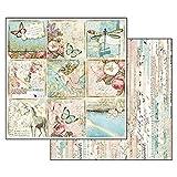 Stamperia Papel Scrap Wonderland Mariposas y Unicornios, Multicolor, Talla unica