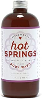 Hot Springs Organic Body Wash - All Natural Shower Soap Gel - Hypoallergenic, Antifungal Bath Soap with Coconut and Lavender Oil, Aloe, and Shea Butter, 12 Fl Oz.