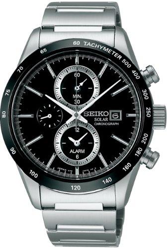 [セイコーウォッチ] 腕時計 スピリット スピリットスマート クロノグラフ ソーラー サファイアガラス SBPY119 シルバー [並行輸入品]