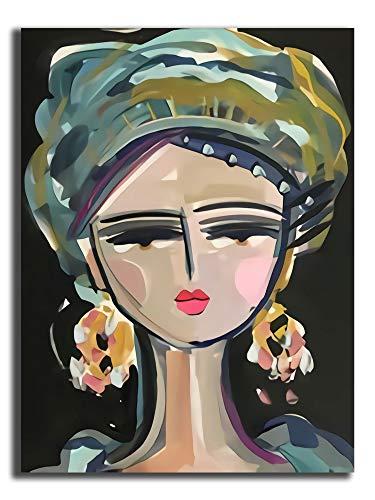 Hangquq Modern Art painting Vsual Arts Abstract Canvas Wall Art On Canvas Abstract Artwork 24'x36'