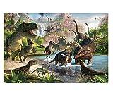 1000 Piezas Jigsaw Puzzle Creativo Puzzle Dinosaurio Adultos...