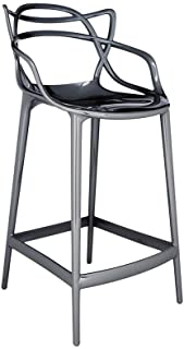 Kartell Masters metalized titanio Stool H.25.6 inch