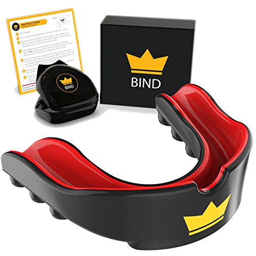 Bind Junior Mundschutz | Beste Sportausrüstung für Kinder und Jugendliche in Boxen, Hockey, Rugby, American Football und MMA | Zahnschutz gegen Zähneknirschen | Jungen und Mädchen (6-12 Jahre)