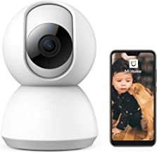 MIHome 360°Camera 1080P Surveillance Smart Camera with Two-Way Audio WiFi Indoor Dome Camera for Pet Baby Elder Monitor HD Night Vision Remote Monitor with iOS Android (No SD)