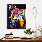Abstrakter Hund nachdenklich Pitbull Kreativität Poster