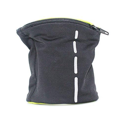 boshiho Unisex Reißverschluss Handgelenk Tasche Runner 's Handgelenk Tasche reversibel Handgelenk Geldbörse, Herren, schwarz