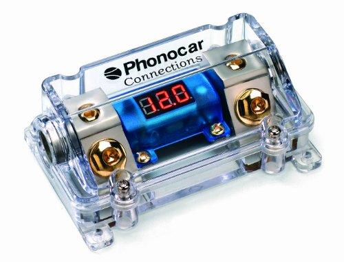 Phonocar 4/490 Porte fusible pour fusibles Maxi Lame avec Voltmètre in/Out 50 mm² Multicolore