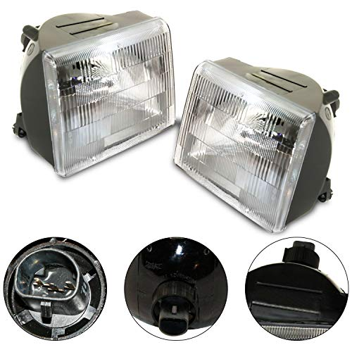 Make Auto Parts Manufacturing Set of 2 Driver Left & Passenger Right Side Composite Headlights Clear Lens For Jeep Grand Cherokee 1993 1994 1995 1996 1997 1998 - CH2503104 CH2502104