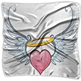 Bandanas Headband Scarf Handkerchief Unisex Angelic Love Valentines Day Winged Heart Tattoo Style Eros Attraction,S