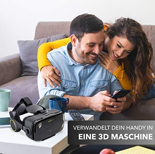 Hi-SHOCK Premium VR-Brille - X4 - Gaming Brille für 3D Spaß - VR-Box mit integrierten Kopfhörern für 4,7 - 6,1 Android Smartphones - Ideal für 360 Videos