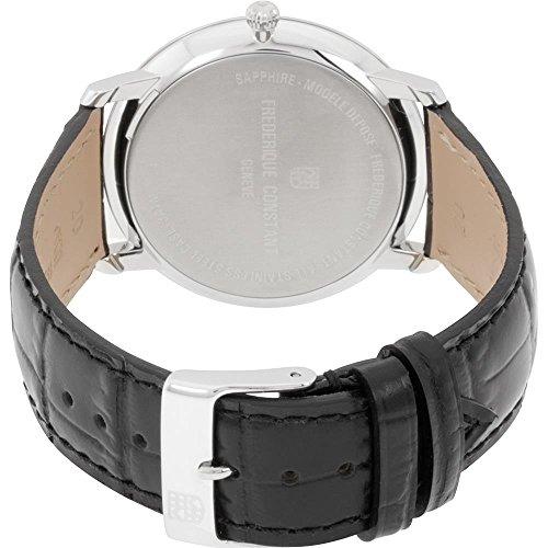 FREDERIQUE CONSTANT Homme 40MM Bracelet Cuir Noir Quartz Montre FC-245BR5S6