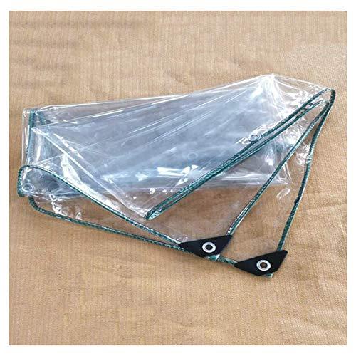 MSTOLL Lonas Cubierta con Ojales Lona Transparente Tarea Pesada Plegable Cubierta De Tablero Lona De Protección Tela De Plástico Cortina De Lluvia-2x4M Claro