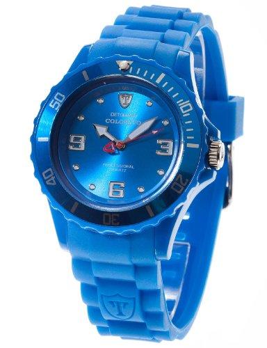 Detomaso DT3007-D Orologio da Polso, Quadrante Analogico da Donna, Cinturino in Silicone, Colore Blu
