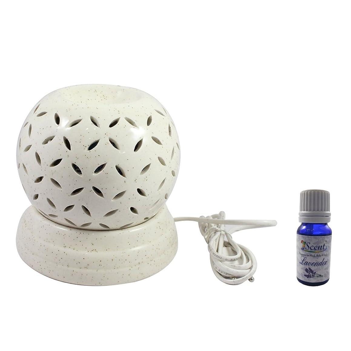 病気のあえて鍔家庭装飾定期的に使用する汚染されていない手作りセラミックエスニック電気アロマディフューザーオイルバーナージャスミンフレグランスオイル|良質白い色の電気アロマテラピー香油暖かい数量1