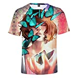 YJXDBABY-Life is Strange-Unisex 3D Printed Short Sleeve T-Shirt,Summer Men's T-Shirts Casual Graphic,Relaxed Easy Round Neck T-Shirt Top,Child Breathable Tees Top-M