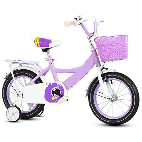 Axdwfd kinderfiets kinderfiets met trainingswielen en manden, verstelbaar 12/14/16 inch voor jongens en meisjes 2-8 jaar oud fietsen