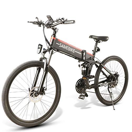 Gaoyanhang Bicicleta Plegable eléctrica de suspensión Completa de 26 Pulgadas, Bicicleta de...