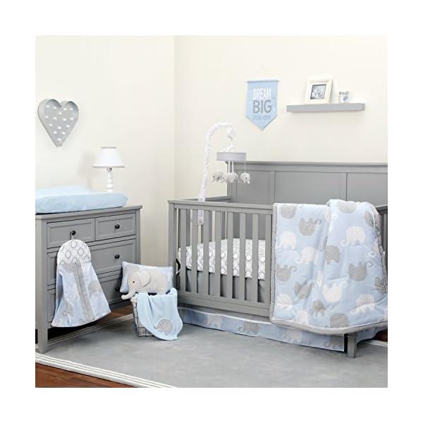 NoJo Dreamer – Blue/Grey Elephant 8 Piece Comforter Set