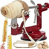 Retoo Apfelschneider und Kartoffelschneider mit 4 Sticks, Metall Apfelschäler aus...