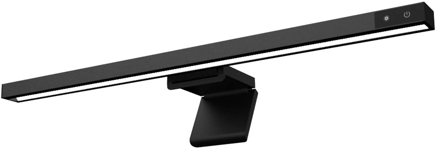 Havit Computer Monitor Light Screenbar USB Powered e-Reading LED Lamp with Stepless Dimming & Flexible Gravity Base Clip, Eye-Friendly Screen Lamp with 3 Color Temperatures for Designers Office Home