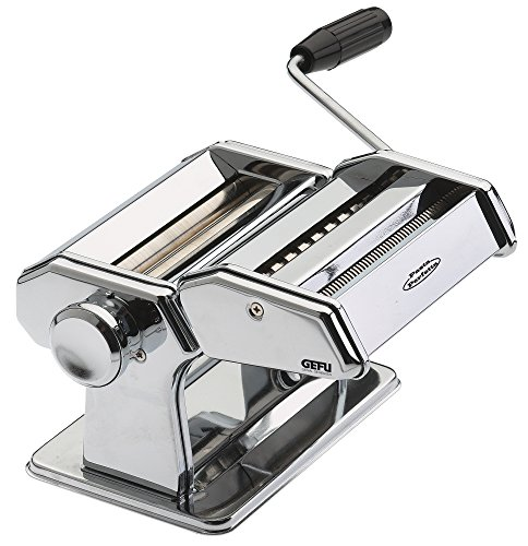 GEFU 28300 Nudelmaschine Pasta PERFETTA DE Luxe mit 6 Verschiedenen Aufsätzen - Maschine für die Zubereitung von Pasta