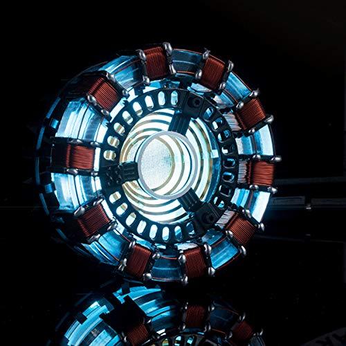 Hvlystory DIY Arc Kit de lámpara de reactor o juego de luces LED de flash modelo construido (Arc Reactor Parts)