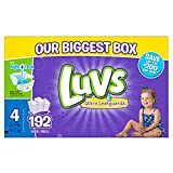 Luvs Ultra Leakguards Disposable Baby Diapers, Size 4, 192 Count (Packaging May Vary)