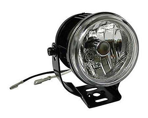 Nebelscheinwerfer, rund, schwarz, Halter, Glas klar, 70mm, H3 55W, Motorrad, PKW