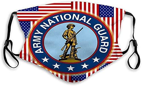 Hirola Escudo bucal transpirable reutilizable al aire libre águila América EE.UU. ejército soldado ilustración-americano patrón sin costuras
