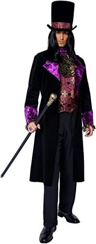 Pour des hommes Gothic Count Dracula Groom HalFaibleeen Fancy Robe Costume Outfit M L XL (grand)