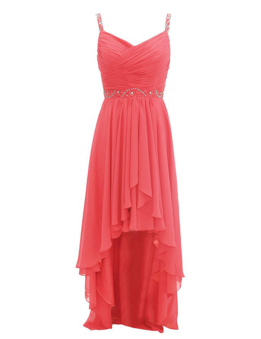 Available at Amazon: Bridesmaid Dresses High Low Prom Dress Formal Evening Gowns Beads Bridesmaid Dress