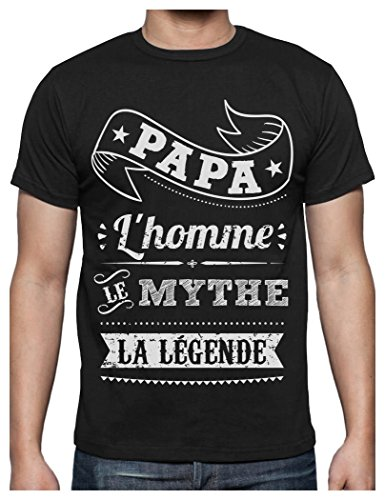 Green Turtle T-Shirts Fêtes des pères Papa l'homme Le Mythe la légende T-Shirt Homme Medium Noir