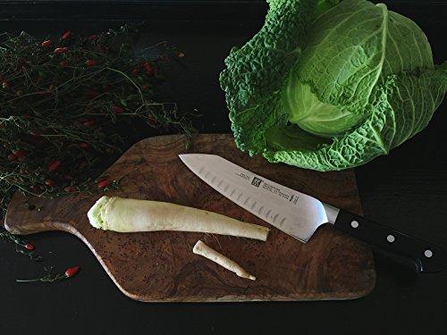 Zwilling J. A. Henckels Pro Seven-Inch Hollow Edge Rocking Santoku Knife