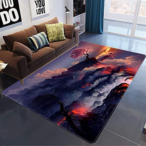 Misshxh tapijt, creatief patroon 1-3, antislip, waterdicht, zacht en wollig, geschikt voor woonkamer, slaapkamer, keuken, hal. 140x200cm