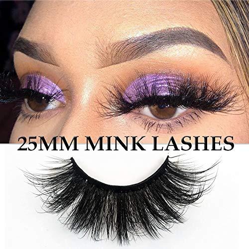 8D 25mm Lashes Faux Mink Strip Eyelashes Fluffy Dramatic Long Soft Wispy False Eyelashes Reusable 7Pair Pack (Bold 25mm Mink Lashes 8D003) 4