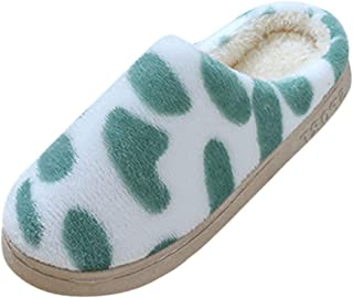 FGDSA Chanclas Lindas Zapatillas de casa cálidas con Lunares, Zapatos de Mujer, Zapatillas de casa Suaves de algodón, Zapa...