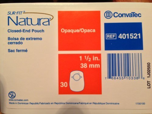 Surfit Natura Closed End Pouch Opaque, Model No : 401521, Size : 38 mm, Box Of 30 by ConvaTec