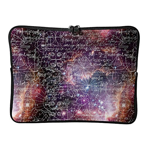 5 Sizes Funny Math Galaxy Laptop Bags Slim Large - Love Math Tablet Bags Suitable for School White 10inch