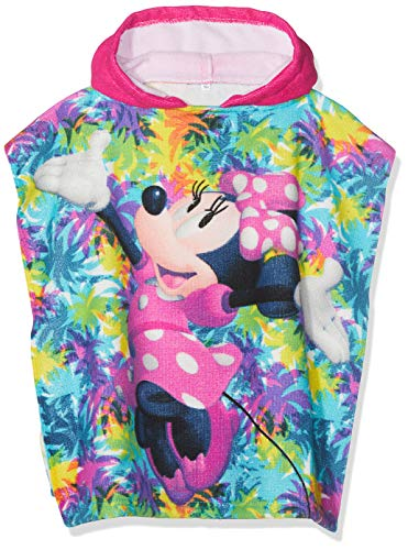 Disney Mädchen Minnie Mouse Bademantel, Pink (Fuschia Fushia), One Size