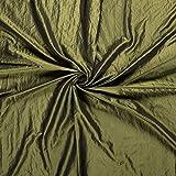 Minerva Crafts Taft Stoff, Olivgrün, Meterware
