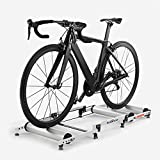 Bicycle Trainer Rollers Aluminum Indoor Retractable Stationary Cycling Roller Exercise Fitness Stand Portable Foldable Bike Resistance Training Station Noise Reduction for Road MTB Mountain Bikes