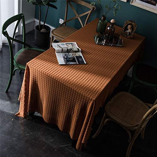 Mantel De Encaje De Estilo Retro Hotel En Casa Mesa De Centro Rectangular Mantel Hecho A Mano De Punto De Poliéster Mantel De Color Sólido 150x350cm