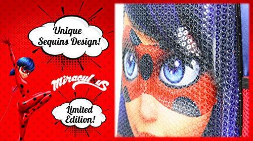 51vMf80AcoL - Miraculous | Mochila Bolso Ladybug 3D | Diseño Exclusivo De Lentejuelas | ¡Ideal para Vacaciones Y Regreso A La Escuela